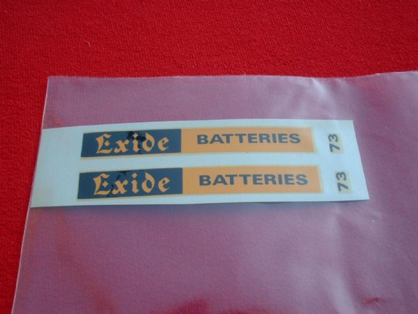 "Dinky Toys 291 BUS ""EXIDE BATTERIES"" TRANSFERS / DECALS"